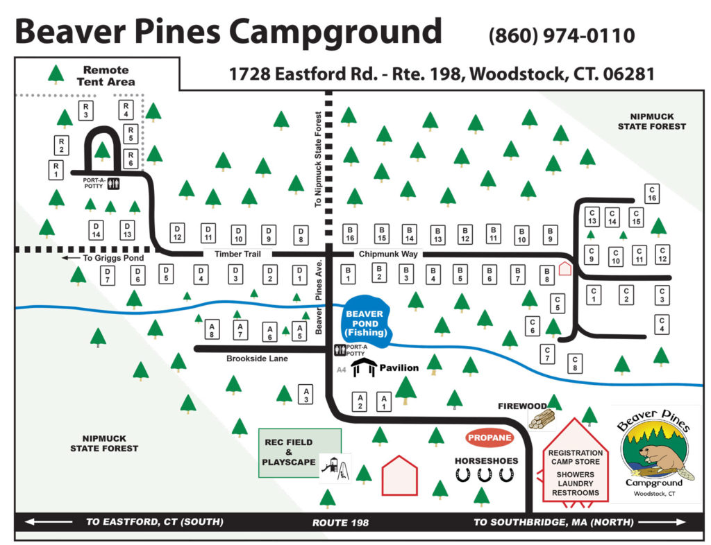 Beaver Pines Campground Campground Map - Us-camping-map